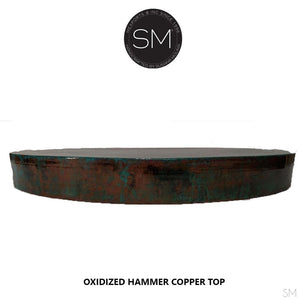 Dining Room Hand Hammered Copper Round Dining Table Model-Mexports By Susana Molina -Mexports® Inc by Susana Molina