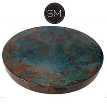 "Dining Room Furniture-Hammer Copper Round Dining Table-Round Dining table-Mexports By Susana Molina-48""-Oxidized Copper-Mexports® Inc by Susana Molina"