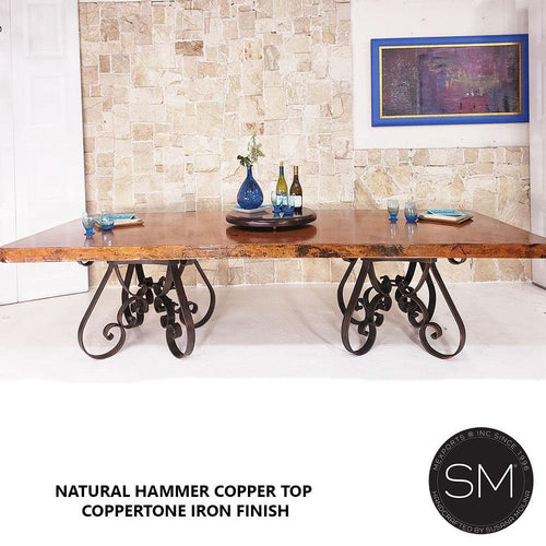 Hammer Copper Table Modern Iron Dining - Mexports® Inc by Susana Molina