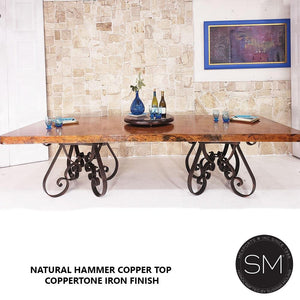 Bestseller Hammer Copper Table Modern Iron Dining table-Mexports By Susana Molina-Mexports® Inc by Susana Molina