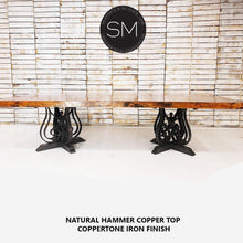 Hammer Copper Top - Luxury Modern Desk-Conference Table - Mexports® Inc by Susana Molina