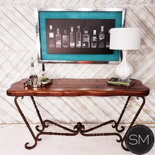 High End Western Mesquite Wood Consoles, Entryway tables.-Mexports By Susana Molina -Mexports® Inc by Susana Molina
