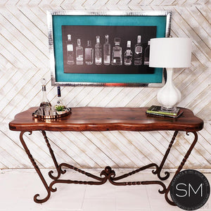 High End Western Mesquite Wood Consoles, Entryway tables. - Mexports® Inc by Susana Molina