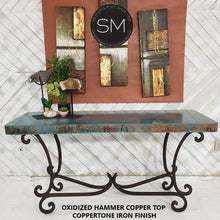 Large Console- Sofa &Entry way table made of Hammered Copper - Mexports® Inc by Susana Molina