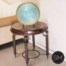 Luxurious Mesquite Wood w/ Wrought Iron Base | Small Ocassional Table - Mexports® Inc by Susana Molina