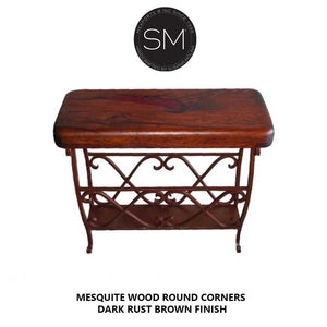 Mesquite Wood Accent Table Model 1263 BB - Mexports® Inc by Susana Molina