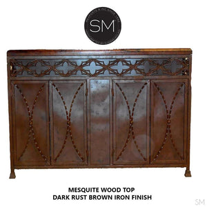 Mesquite Wood Buffet Cabinet Model 1236 A - Mexports® Inc by Susana Molina