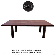 Conference - Desk table Mesquite Wood -Contemporary Dining table-Desks - Conference tables-Mexports By Susana Molina -6'-Natural Copper-Dark Rust Brown-Mexports® Inc by Susana Molina