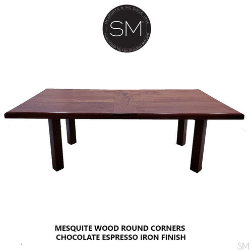 Mesquite Wood Contempo Dining Table Model 1253 R - Mexports® Inc by Susana Molina