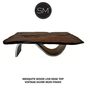 Mesquite Wood Contemporary Coffee Table Model 1257 AA - Mexports® Inc by Susana Molina