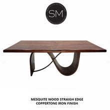 Contemporary Kitchen Island & Solid Mesquite Wood top-kitchen island - bar tables-Mexports By Susana Molina-5'-Round Corners-Turquoise-Mexports® Inc by Susana Molina
