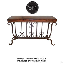 Spanish Style solid Mesquite Wood Large Console, Sofa tables-Mexports By Susana Molina -Mexports® Inc by Susana Molina