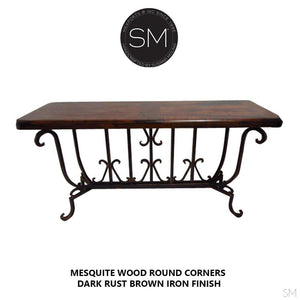 Mesquite Wood Large Console Model 1213 C - Mexports® Inc by Susana Molina