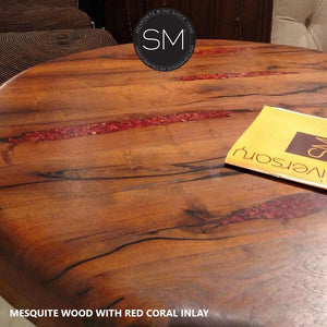 Mesquite Wood Large Occasional Table Model 1240 L - Mexports® Inc by Susana Molina