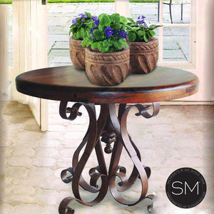 Mesquite Wood Large Occasional Table Model 1246 L - Mexports® Inc by Susana Molina