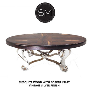 Mesquite Wood Oval Coffee Table 1229 AA - Mexports® Inc by Susana Molina