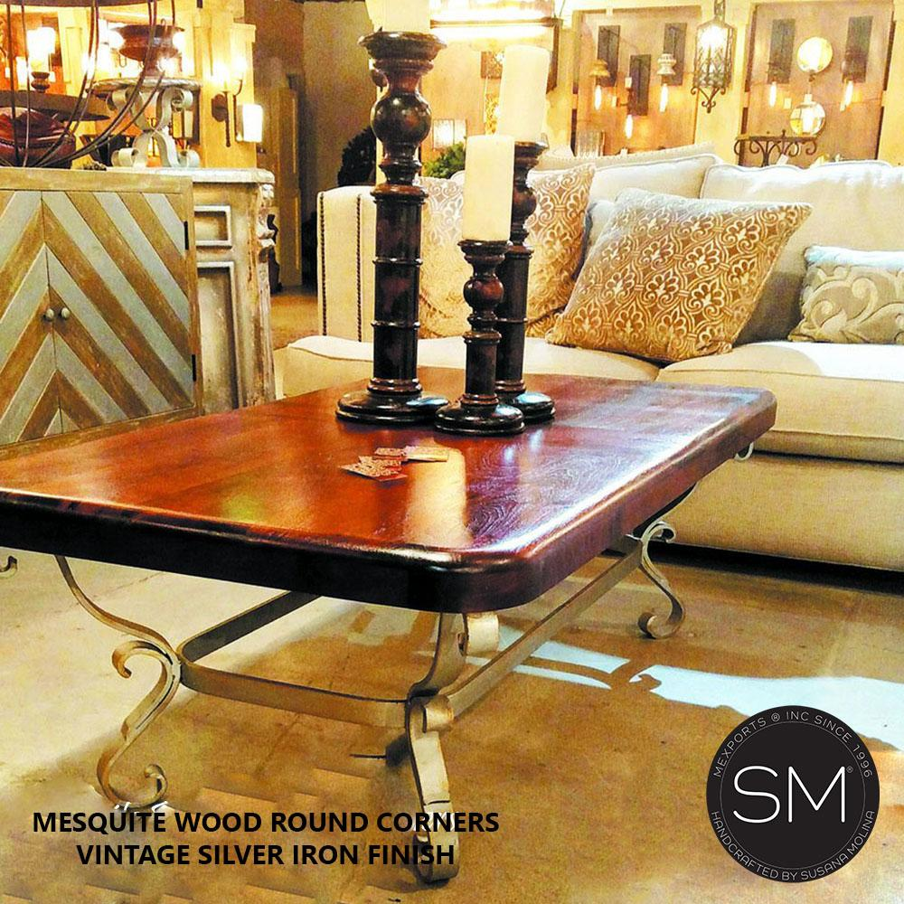 Texas Mesquite Wood -Living room Rectangular Coffee Table-Mexports By Susana Molina-Mexports® Inc by Susana Molina