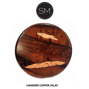 Round Coffee table made kiln dried solid Mesquite Wood-Mexports By Susana Molina-Mexports® Inc by Susana Molina