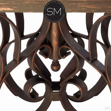 Mesquite Wood Round Dining Table Model 1246 D - Mexports® Inc by Susana Molina