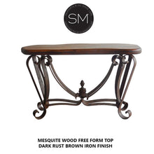 Turquise Inlay Mesquite Wood Console wrought-Mexports By Susana Molina-Mexports® Inc by Susana Molina