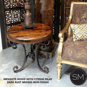 Mesquite Wood Small Occasional Table Model 1223 BB - Mexports® Inc by Susana Molina