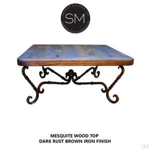 Mesquite Wood Square Coffee Table Model 1211 A - Mexports® Inc by Susana Molina