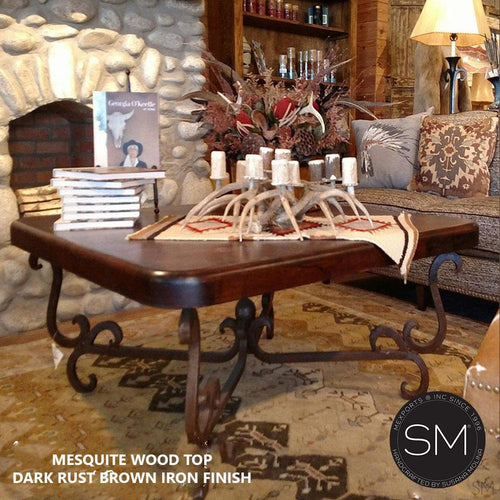 Mesquite Wood Square Coffee Table Model 1240 A - Mexports® Inc by Susana Molina