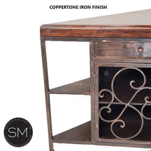 Rustic Corner Cabinet with Exotic Mesquite wood top-Elegant buffet table-Mexports By Susana Molina -Mexports® Inc by Susana Molina