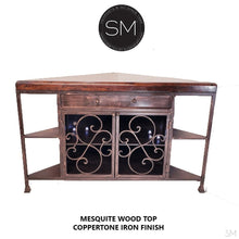 Mesquite Wood Triangle Corner Cabinet Mode 1235 C - Mexports® Inc by Susana Molina