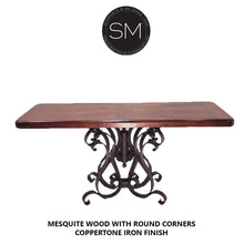 Mexican Modern Large Console with Mesquite Wood Single Pedestal - Mexports® Inc by Susana Molina