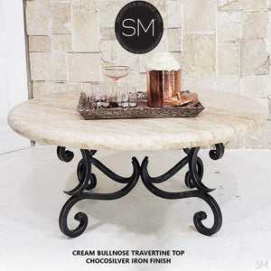 Modern Natural Travertine Coffee Table - Mexports® Inc by Susana Molina