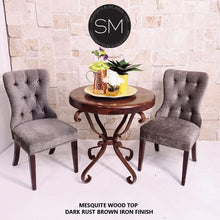 Solid Wood Entrance Table Large Exemplary Mesquite w/ Wrought Iron Base-Mexports By Susana Molina-Mexports® Inc by Susana Molina