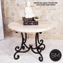 Occasional Table - Travertine Top - Mexports® Inc by Susana Molina