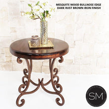 Occasional Tables | Large | Mesquite Wood, Wrought Iron Base - Mexports® Inc by Susana Molina