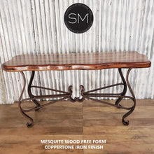 One-of-a-kind Console Mesquite Wood, Wrought Iron-Mexports By Susana Molina -Mexports® Inc by Susana Molina