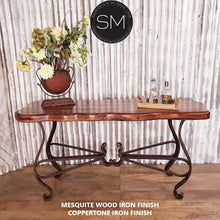 One-of-a-kind Console | Large | Mesquite Wood , Wrought Iron - Mexports® Inc by Susana Molina