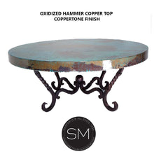 Hammer Copper Table Ultramodern Round Oxidized Top Coppertone Twist Legs-Mexports By Susana Molina-Mexports® Inc by Susana Molina