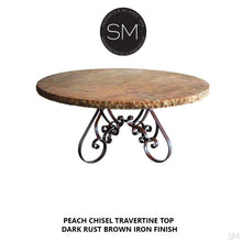 Old World Dining Table | Travertine | Wrought Iron