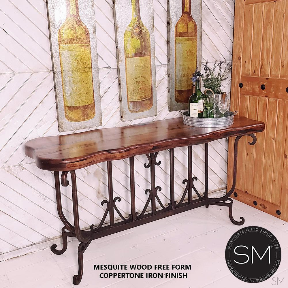 Spanish Style solid Mesquite Wood Large Console, Sofa tables - Mexports® Inc by Susana Molina