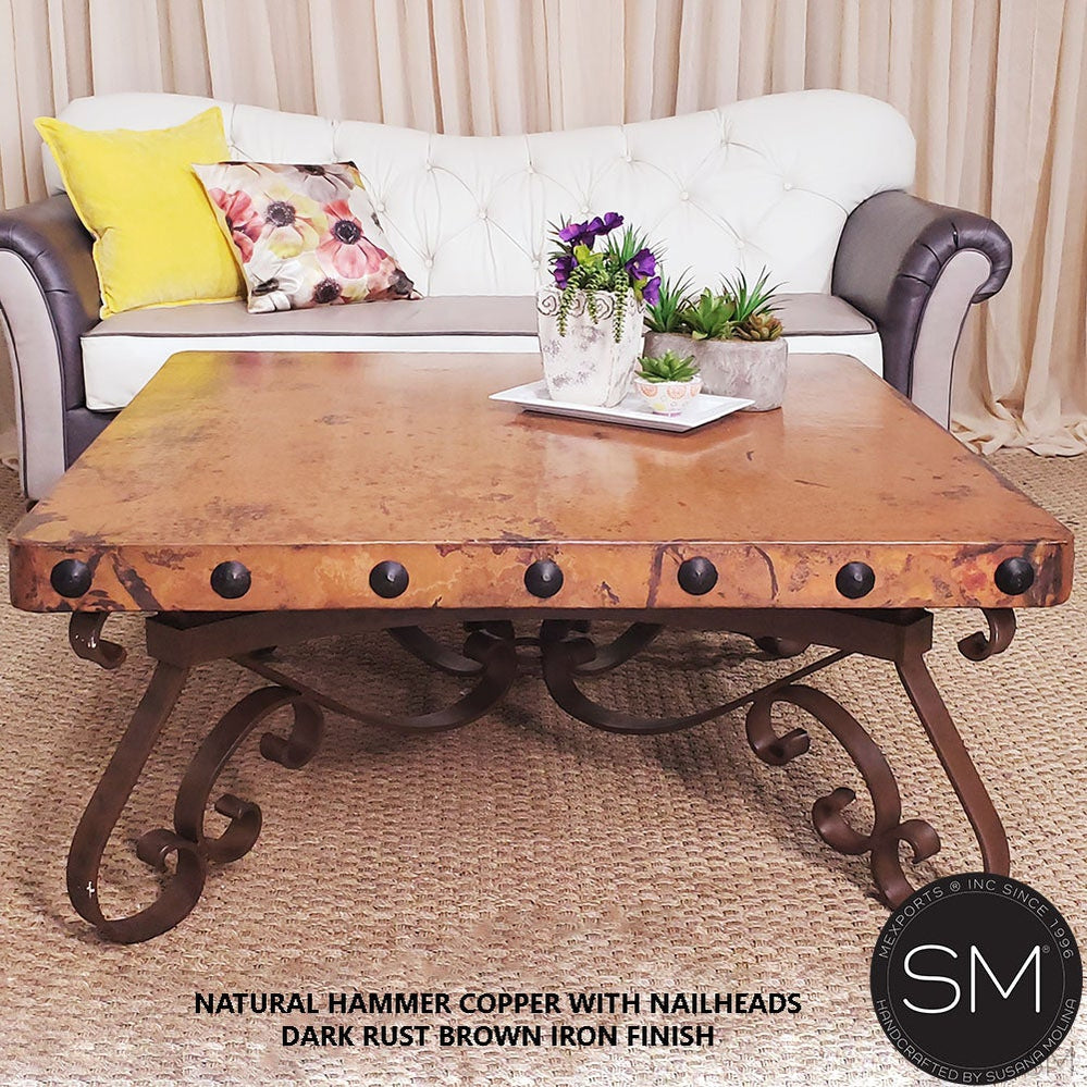 The best Suared  Hammer Coppercoffee tables for your Living or Family room