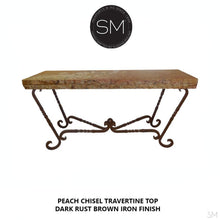 Travertine Console Table Model 1211 C - Mexports® Inc by Susana Molina