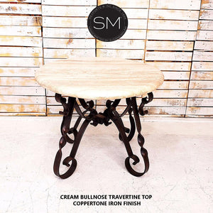 Travertine Large Occasional Table-Mexports By Susana Molina-Mexports® Inc by Susana Molina