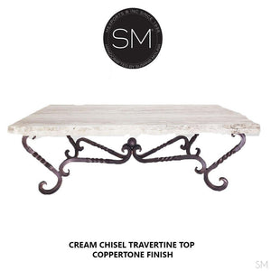 Travertine Rectangular Coffee Table Model 1211 AA - Mexports® Inc by Susana Molina