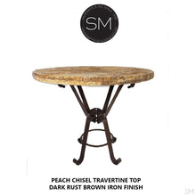 Luxury Outdoor Patio Travertine Round Tall Bar Table-Mexports By Susana Molina -Mexports® Inc by Susana Molina