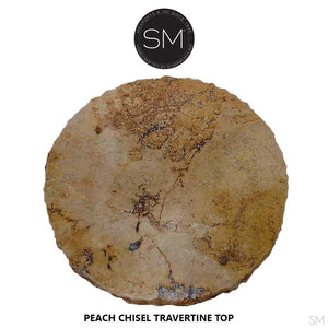 Luxurious Round Natural Travertine Bar Table - Mexports® Inc by Susana Molina