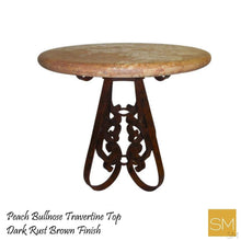 Travertine Round Bar Table Model 1251 E - Mexports® Inc by Susana Molina