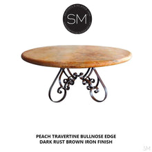 Travertine Round Dining Table Model 1251 D - Mexports® Inc by Susana Molina