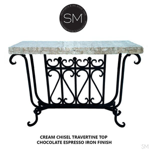 Travertine Small Console Model 1213 F - Mexports® Inc by Susana Molina