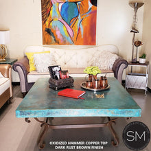Tuscan Style Hammer Copper Square Table | Living room-Mexports By Susana Molina-Mexports® Inc by Susana Molina