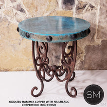 Upscale and contemporary Hammer Copper Small Occasional Table - Mexports® Inc by Susana Molina